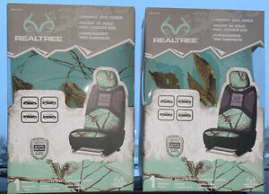 Lot Of 2 Mint Green Realtree Seat Covers Camouflage Camo New