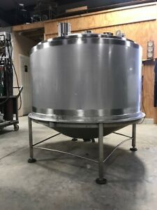200 Gallon 316 Stainless Steel W Hot Water Jacket Tank Dish Dome W Many Inlets