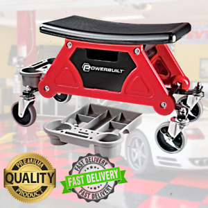 Mechanics Roller Stable Seat Toolbox Slide Out Tool Drawer Trays Rolling Chair