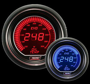 Oil Temperature Gauge Prosport Evo Series Red And Blue 52mm 2 1 16