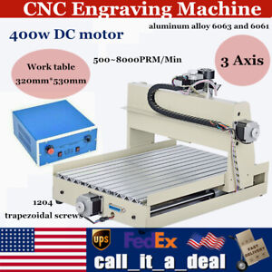 Cnc 3040 3 Axis Wood Working Machine Engraving Milling Router Engraver 400w 3d