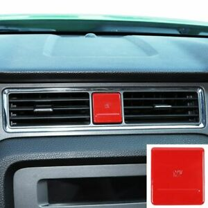 Central Cigarette Lighter Decor Cover For Ford Mustang 2010 2014 Red Accessories