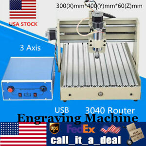 Cnc 3040 3 Axis Wood Working Machine Engraving Milling Router 400w Engraver Usb
