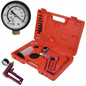 Hand Held Brake Bleeder Vacuum Pressure Pump Tester Tool Kit Adapters For Autos