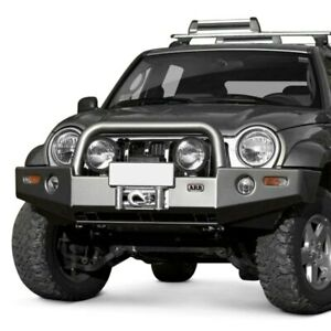 For Jeep Liberty 05 07 Deluxe Full Width Front Winch Hd Bumper W Grille Guard