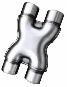 Stainless Steel 3 Crossover Stamped X Pipe