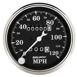 Autometer 1796 Old Tyme Black Mechanical Speedometer