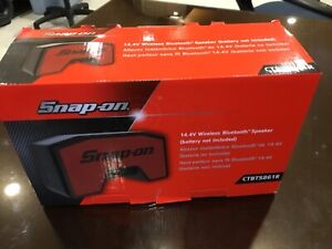 Snap on Snap On Tools Ctbts861r 14 4 V Cordless Bluetooth Speaker Red New In Box