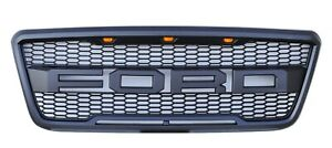 Fits For 2004 2008 Ford F 150 Front Raptor Style Honeycomb Mesh Grille With 3led