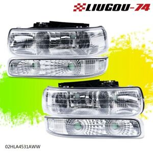 Headlights signal Lights For 1999 2002 Chevy Silverado 2000 06 Tahoe Suburban Us