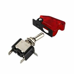 Toggle Switch 12v Aircraft Type Red Led Light On off Car Waterproof Dash Flick