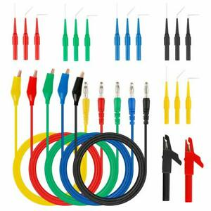 5color Back Probe Kit Multimeter Test Leads Tool Identified Probe For Automotive