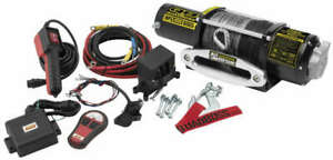 Quadboss 5 000lbs Atv Utv Truck Trailer Remote Wireless Winch Synthetic 50