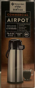 2 2 Liter Airpot Hot Coffee Server Carafe Beverage Dispenser Stainless Steel New