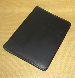 Monarch folio Size Black Leather Notebook 1 Rings Open 3 ring Binder Colombia