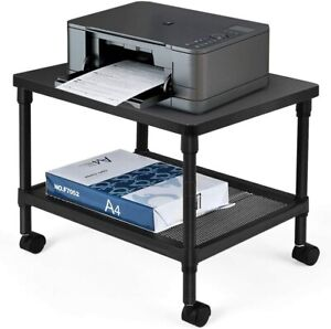 Tangkula Printer Stand 2 tier Under desk Cart W Ample Storage