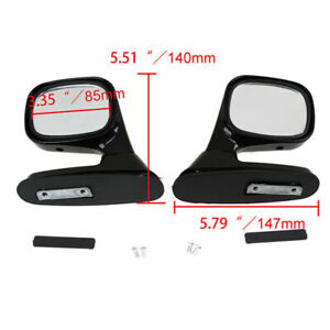 Pair Universal Car Truck Rear Side View Mirrors Exterior Mrrior Assembly Black