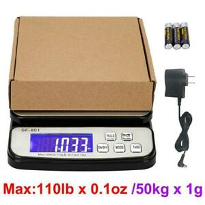 110 Lb X 0 1oz Digital Shipping Scale Postal Scale Desktop Scale With Ac Adapter