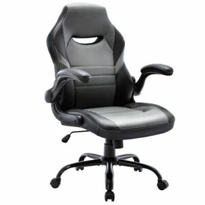 Executive Gaming Chair Racing Computer Office Desk Chair 360 swivel Flip up Arm