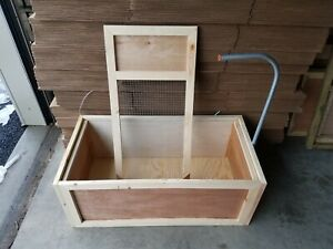 Backyard Chickens brooder Box New baby Chick Rearing secure Brooder Box With Top