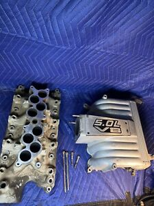 86 95 Ford Gt40 Explorer Mustang Efi Upper Lower Intake 302 5 0 87 93