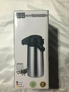 New 64 Oz 1 9 Liter Airpot Coffee Dispenser With Easy Push Button Bpa free