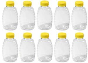 Honey Jar 10 Pack 32oz Clear Plastic Squeeze Honey Bottles And Honey 10