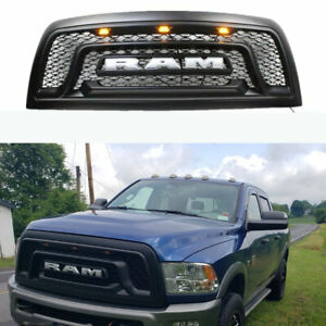 Front Bumper Grille W Led Fit For 2010 2018 Dodge Ram 2500 Ram 3500 Grill