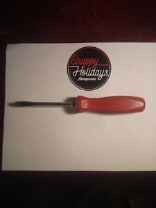 Vintage Snap On Racing Edition Red Flat 1 4 Screwdriver W new Blade