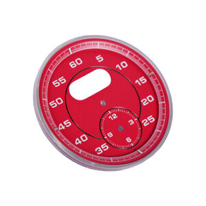 Dial Clock Gauge Chrono For Porsche Cayman 911 Macan Cayenne Boxster Panamer Red