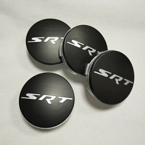 4pcs Matte Black Chrome Srt Wheel Center Hub Caps 63mm 2 5 For Dodge Charger