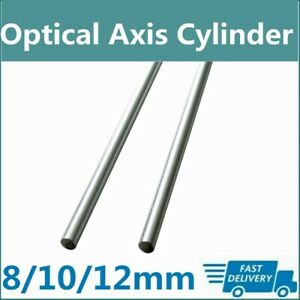2x Optical Axis Cylinder Od 8 10 12mm 300mm 1000mm Liner Rail Linear Shaft Rod