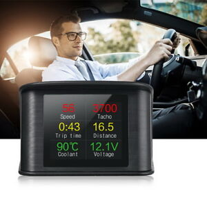 Car Hud P10 Obd2 Head Up Display Speedometer Digital Device Consumption Tool