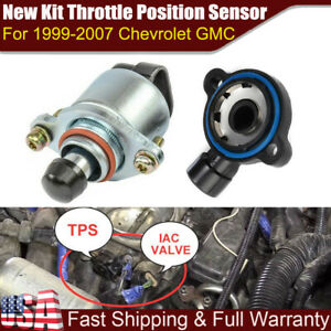 New Throttle Position Sensor And Idle Air Control Valve Set For Ls Chevy Gm Usa
