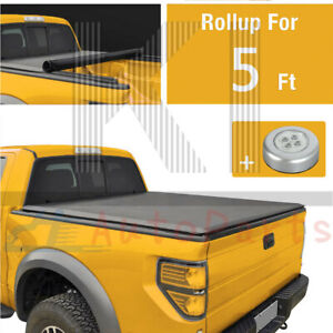 5 Ft Bed Soft Roll Up Over Bed Rail Tonneau Bed Cover For 2019 2020 Ford Ranger