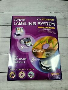 Cd Dvd Labeling System Stomper Professional Edition 600 Labels Sealed Legacy