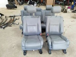 Driver Passenger Front Rear Seats Gray Leather Crew Cab Fits 2011 Tundra