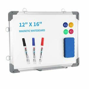 Small Dry Erase White Board 12 X 16 Portable Magnetic Hanging White