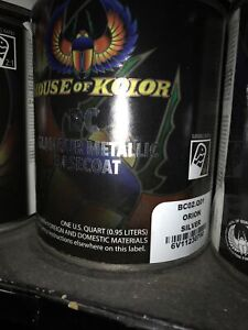 House Of Kolor Bc02 Orion Silver Shimrin Metallic Basecoat Auto Paint 1 Quart