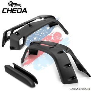 6pcs Wide Pocket Extended Fender Flares For 97 06 Jeep Wrangler Tj 7 Black