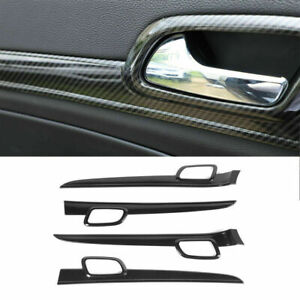 Carbon Fiber Style Inner Door Handle Cover For Jeep Grand Cherokee 2011 19 Us