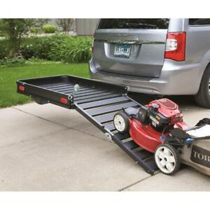 Guide Gear Folding Aluminum Cargo Carrier With 3 position Ramp