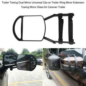 1pc Car Truck Trailer Towing Mirror Blind Spot Adjustable Clip on Universal T6l7