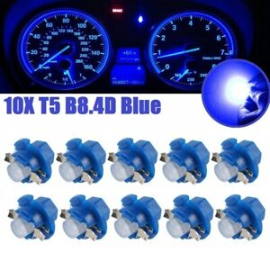 10x For Dodge Ram B8 4d Led Instrument Panel Dash Gauge Cluster Light Blue Bulbs