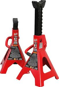 Big Red T43202 Torin Steel Jack Stands 3 Ton 6 000 Lb Capacity Red 1 Pair
