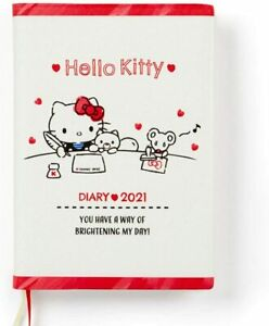 Japan Sanrio Hello Kitty Diary Schedule Book Planner 2021 A6 Monthly weekly Type