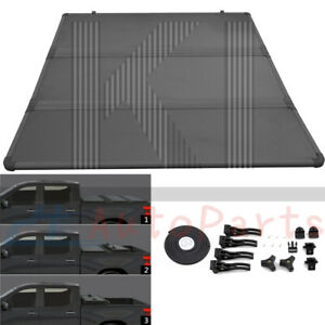 5 Ft Hard Tri Fold Tonneau Cover For 2019 2020 2021 Ford Ranger 61 0 Truck Bed