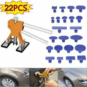 Paintless Car Hail Damage Dent Remover Repair Kit 22pcs Auto Dent Puller Tools