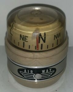 Vintage Air Way Compass Beige Car Boat Truck Auto Marine Hot Rat Rod Airway