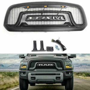 For 2013 2018 Dodge Ram 1500 Grille Abs Honeycomb Bumper Grill Matte Black Us
